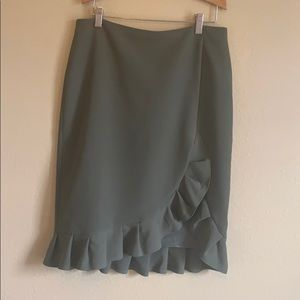 Army green Banana Republic pencil skirt